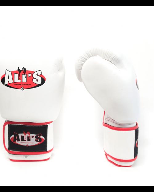 Witte (kick)bokshandschoenen van Ali''s Fight Gear