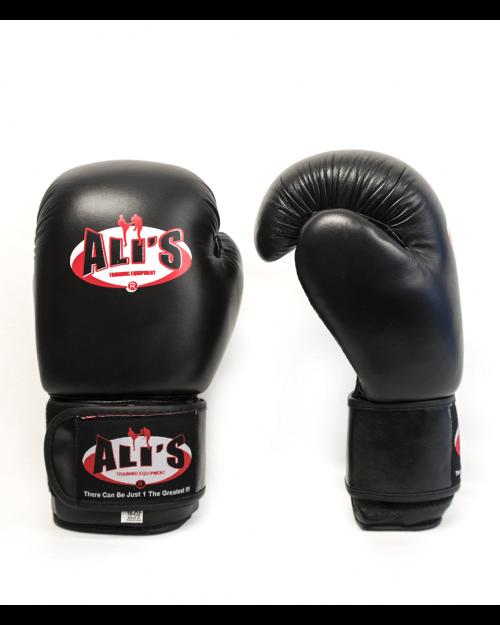 Leren bokshandschoenen voor sparren